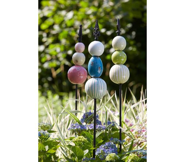 Dehner zierstab candy triple blau dehner - Keramikkugeln blau garten ...
