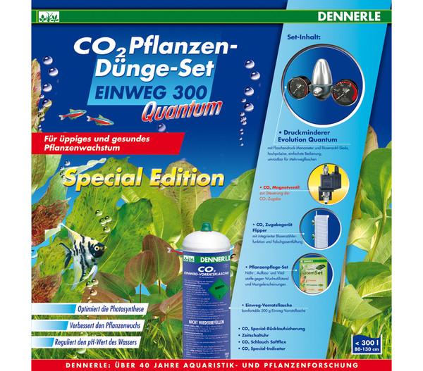 Dennerle CO2 Pflanzendünge-Set Einweg 300 Quantum Special Edition