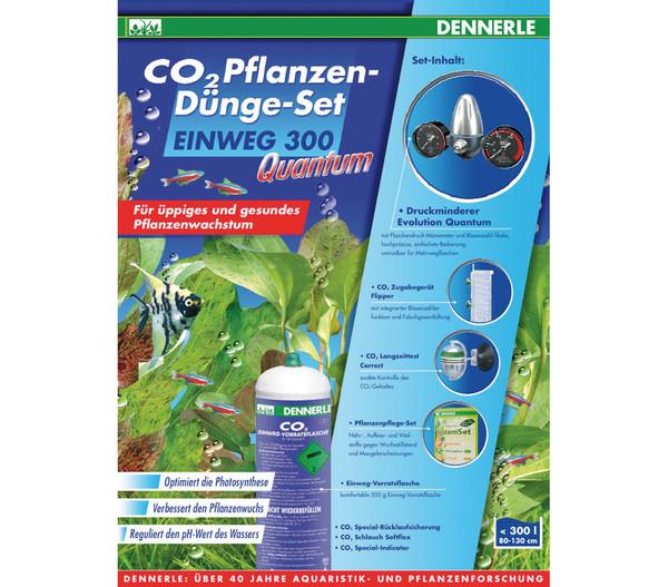 DENNERLE CO2 Pflanzendünge-Set Einweg 300 Quantum