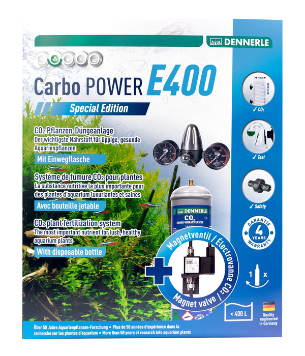 DENNERLE CO2 Pflanzendünge-Set Einweg CarboPOWER E400 Special Edition