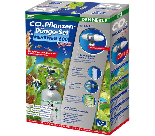 Dennerle CO2 Pflanzendünge-Set Mehrweg 600 Space