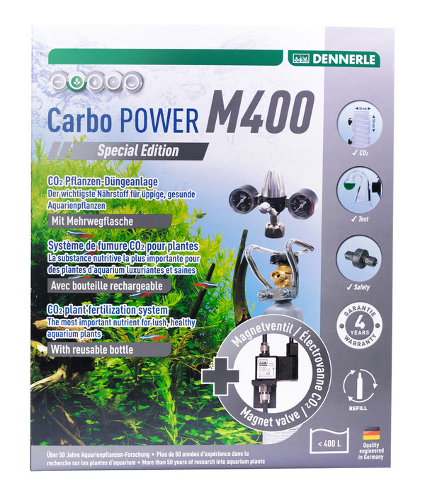 DENNERLE CO2-Pflanzendünge-Set Mehrweg CarboPOWER M400 Special Edition