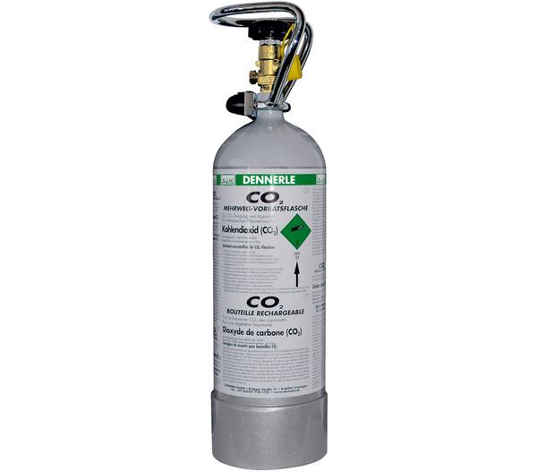DENNERLE Mehrwegflasche CO2 grau, 2kg
