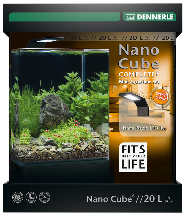 DENNERLE Mini-Aquarium Set Nano Cube® Complete+