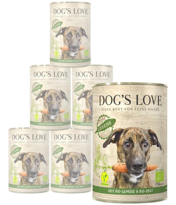 Dog's Love Ergänzungsfutter Bio Greens BARF vegan, 6 x 400g