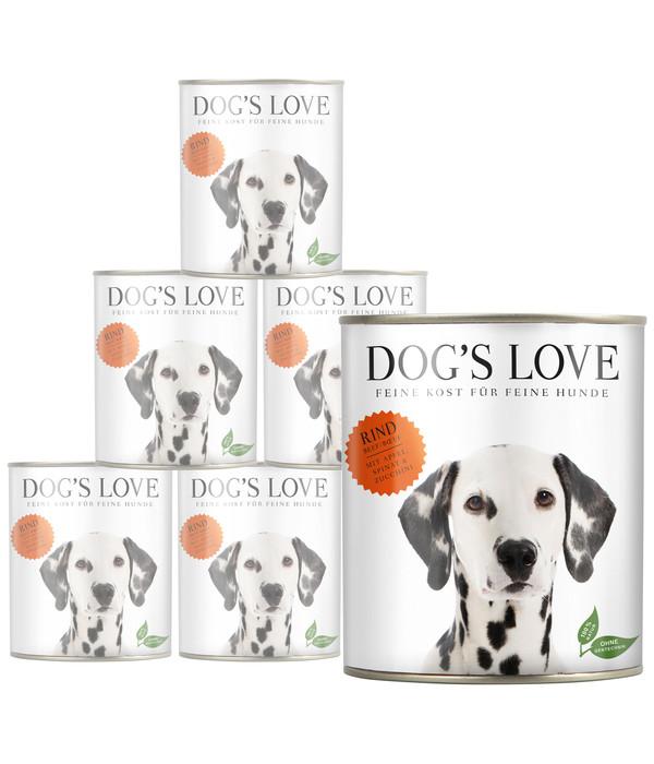 DOG'S LOVE Nassfutter Adult, 6 x 800g