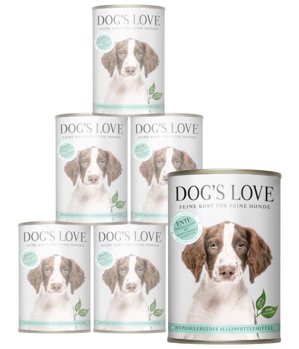 DOG'S LOVE Nassfutter Hypoallergen, 6 x 400g