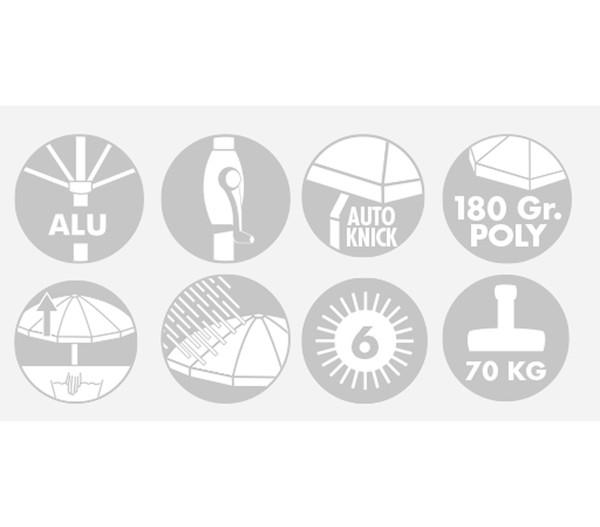 Doppler Expert Auto Tilt Sonnenschirm Mit Kurbel O 320 Cm Dehner