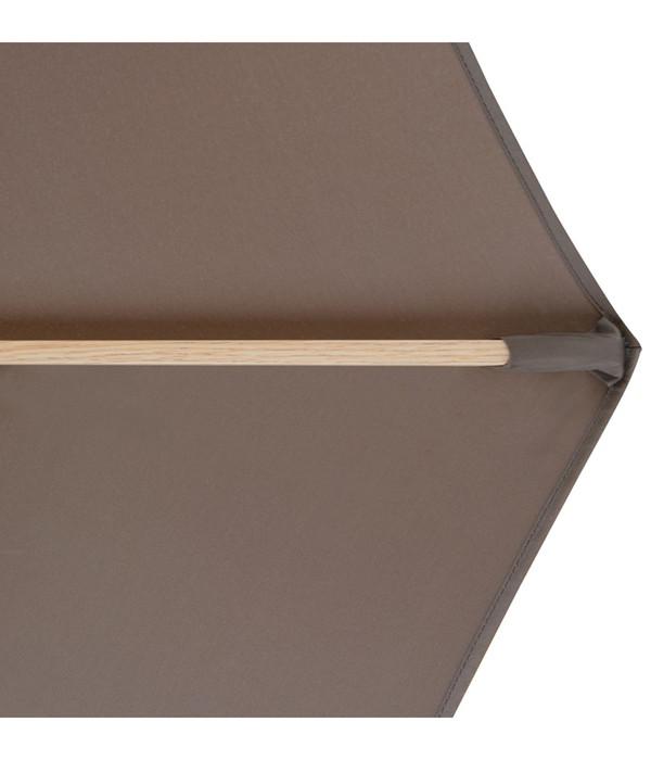 Doppler Sonnenschirm 'Alu Wood', Ø 350 cm