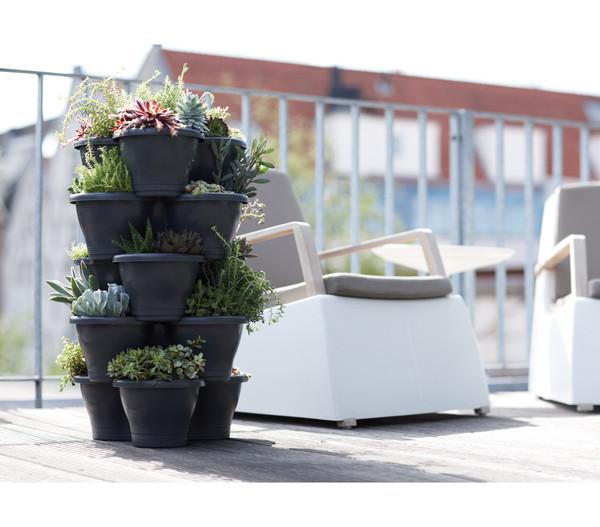 elho Kunststoff-Blumentopf Corsica Vertical Garden, Ø 44 cm