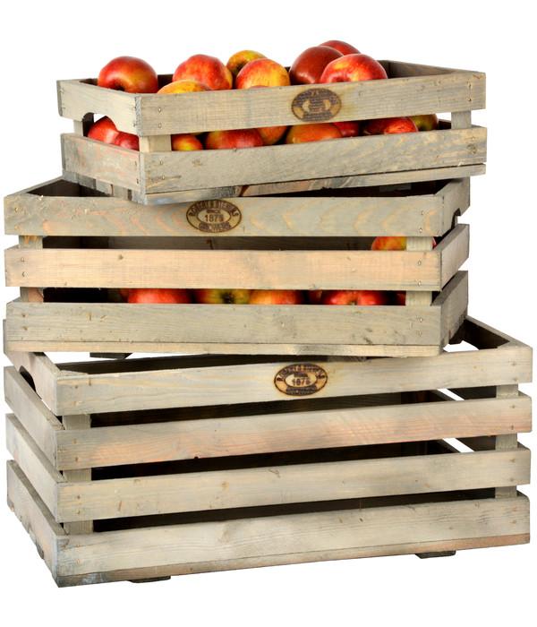 Esschert Obstkiste, grau-braun