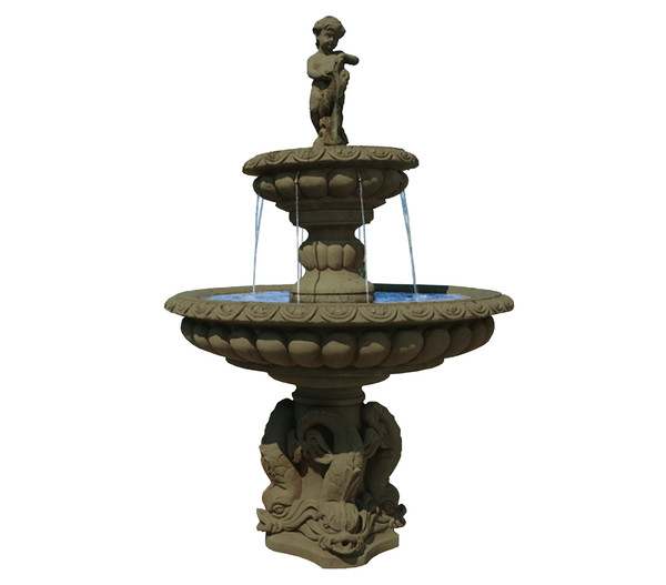 Fantasieco Stein-Gartenbrunnen Milano, Ø 115 x 173 cm