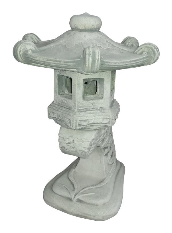 fantasieco Stein-Leuchte, ca. B23/H35/T23 cm