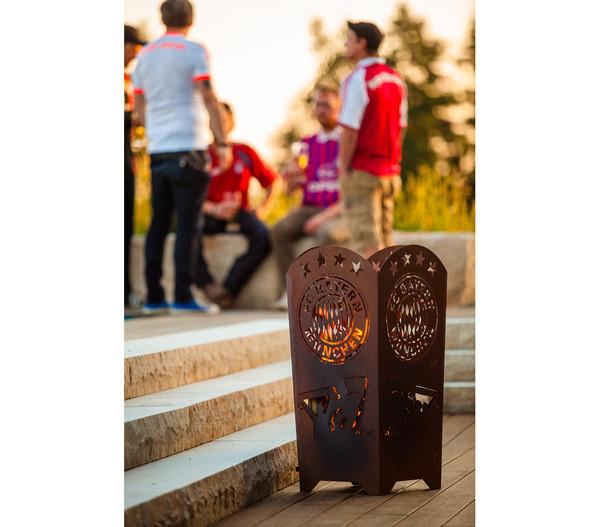 Ferrum FCB Feuerkorb Fans, eckig, 40 x 40 x 85 cm, rost