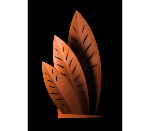 Ferrum Metall-Skulptur Palmenwedel, 115 x 180 cm, rost