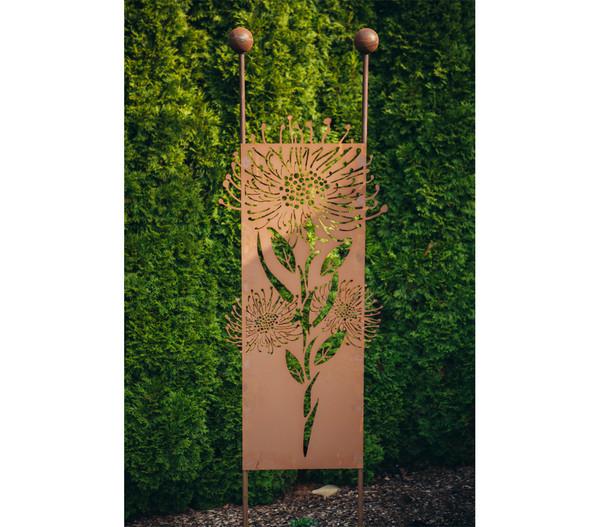 Ferrum Metall-Stecker Pusteblume, 54 x 208 cm, rost