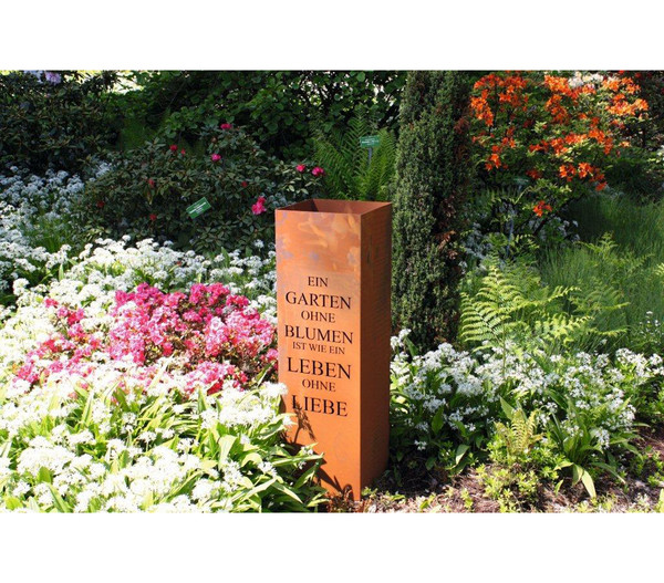 Ferrum Metall Saule Gedicht Garten Bepflanzbar 30 X 30 X 100 Cm Rost Dehner