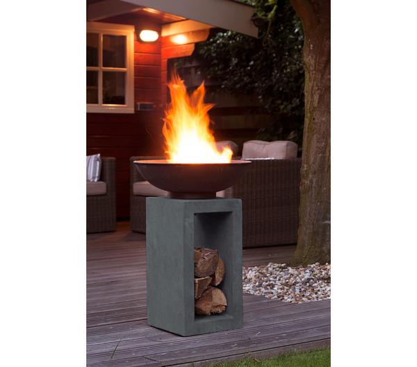 Feuerschale Cadiz, 39,5 x 39,5 x 68,5 cm