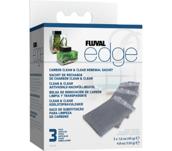 FLUVAL® Edge Aktivkohle-Nachfüllbeutel, Clean & Clear, 3er