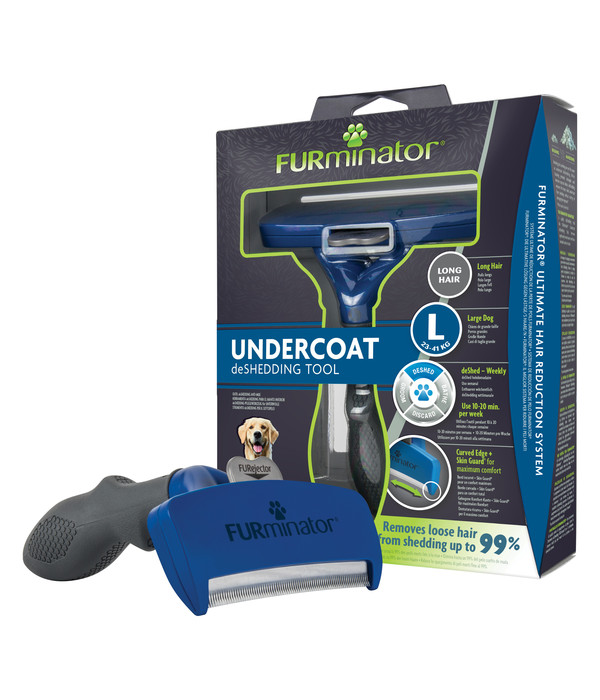 FURminator® Pflegekamm für langhaarige, große Hunde