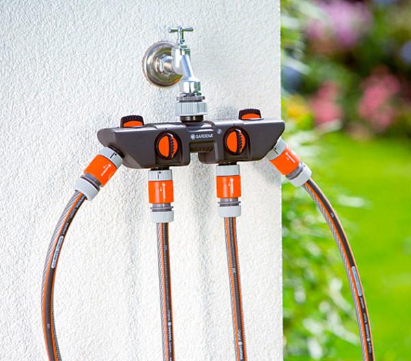 GARDENA 4-Wege-Verteiler für Gartenschläuche