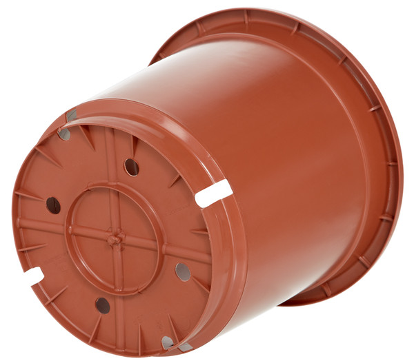 Geli Kunststoff-Topf, rund, terrakotta, Ø 30 cm