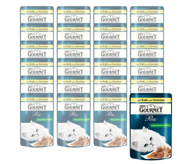 Gourmet Perle Erlesene Streifen, Nassfutter, 24 x 85g