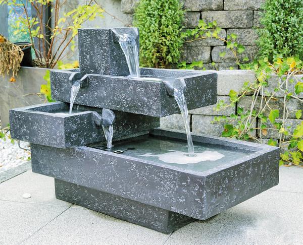 Granimex Polyresin-Gartenbrunnen Angulo