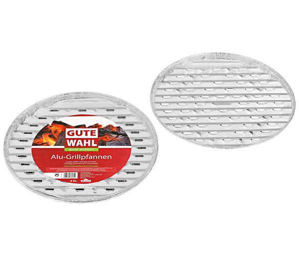 Gute Wahl Aluminium-Grillpfanne, 4 Stück