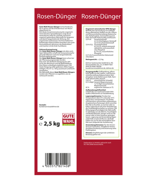 Gute Wahl Rosen-Dünger, 2,5 kg