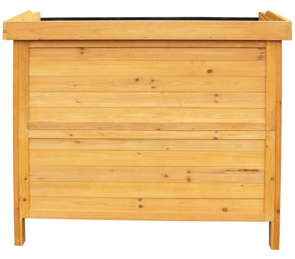Habau Gartentisch mit Unterschrank, 98 x 48 x 95 cm