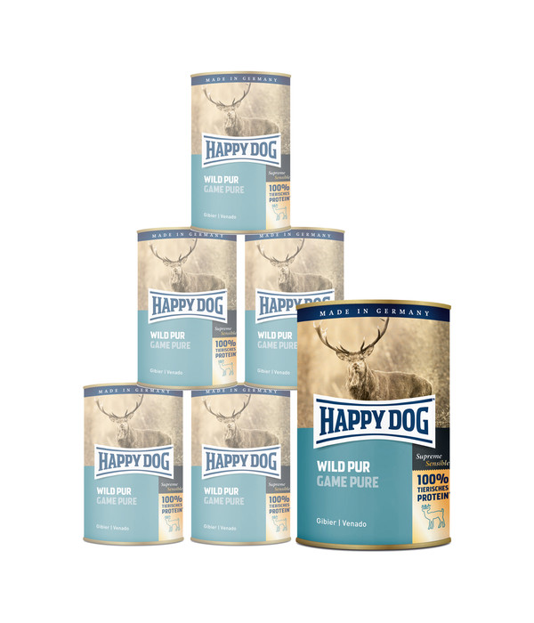 Happy Dog Nassfutter Pur, 6 x 400g/12 x 400g