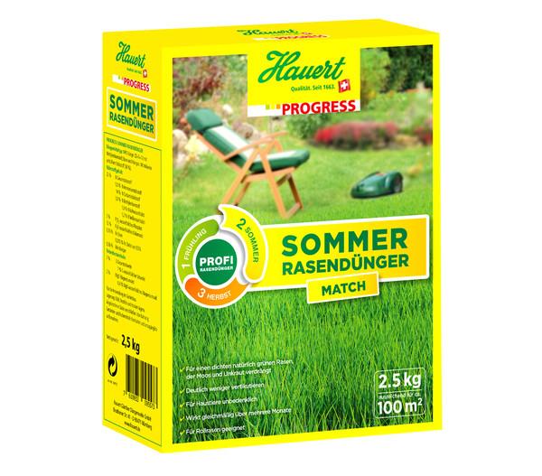 Hauert Progress 3x 2,5 kg Rasendünger-Set Frühling, Sommer, Herbst
