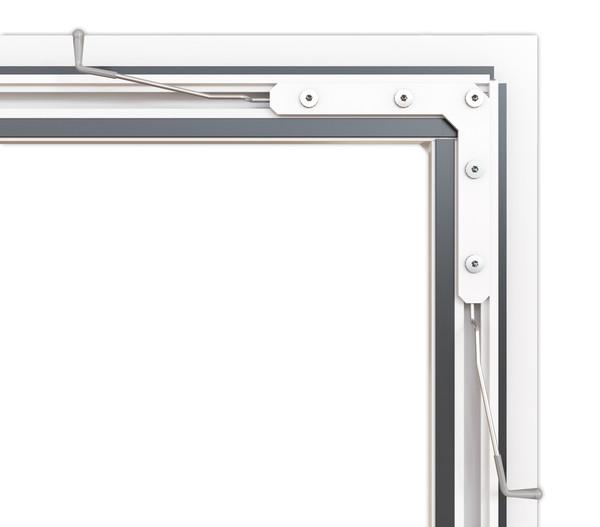Hecht Fliegengitter Fensterbausatz COMPACT, 100x120 cm