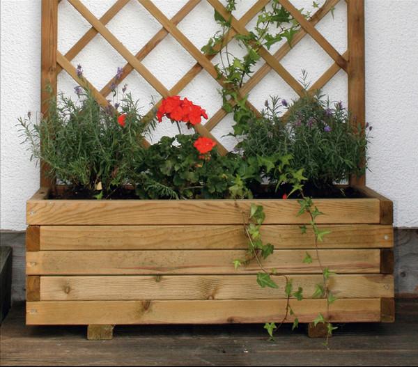 Holz-Blumenkasten Wachau, B90/H140/T40 cm