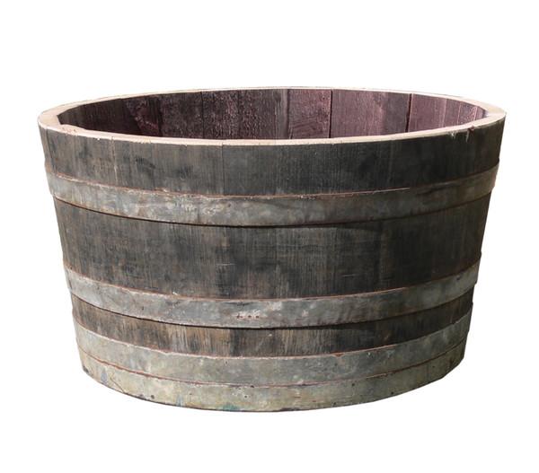 Holz-Weinfasskübel, rund, braun