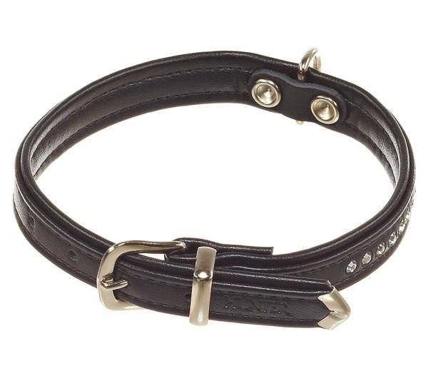 HUNTER Hundehalsband Modern Art Luxus, schwarz