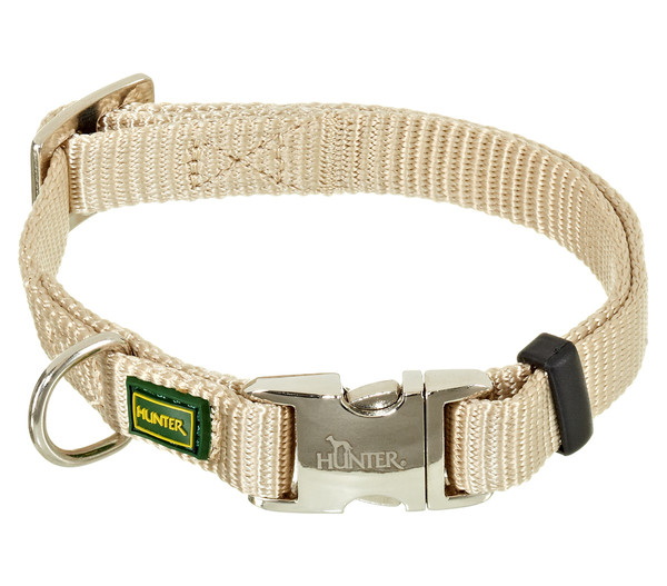 "HUNTER® Hundehalsband ""Vario Basic Alu Strong"", beige"