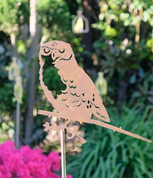 Illumino Stahl-Gartenstecker für Glücksvogel, ca. H100 cm