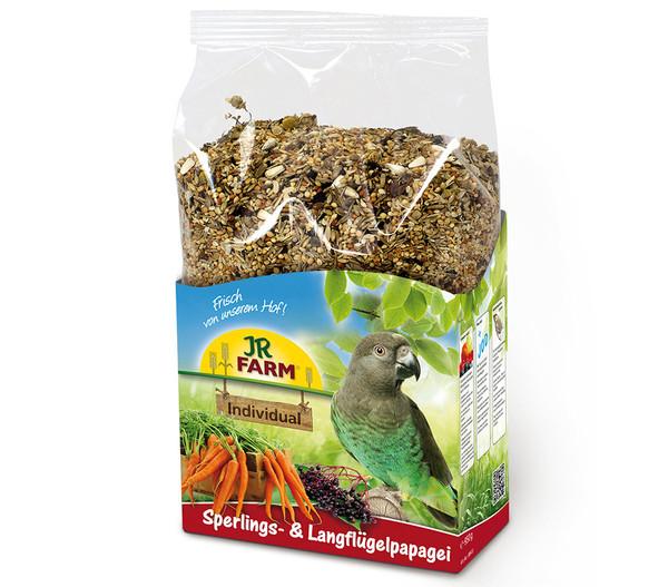 JR FARM Vogelfutter Individual Sperlings- & Langflügelpapagei, 1kg