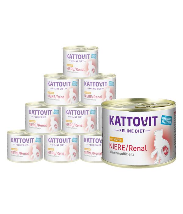 KATTOVIT Feline Diet Nassfutter Niere/Renal, 12 x 185g