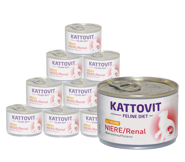 KATTOVIT Feline Diet Nassfutter Niere/Renal Huhn, 12 x 175g