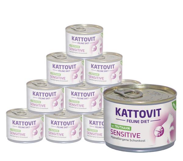 Kattovit Feline Sensitive Truthahn, Nassfutter, 12 x 175g