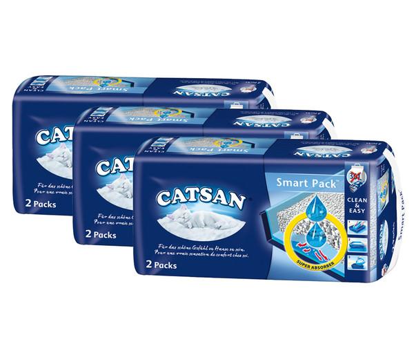 Katzenstreu Catsan Smart Pack, 3x2 Stück
