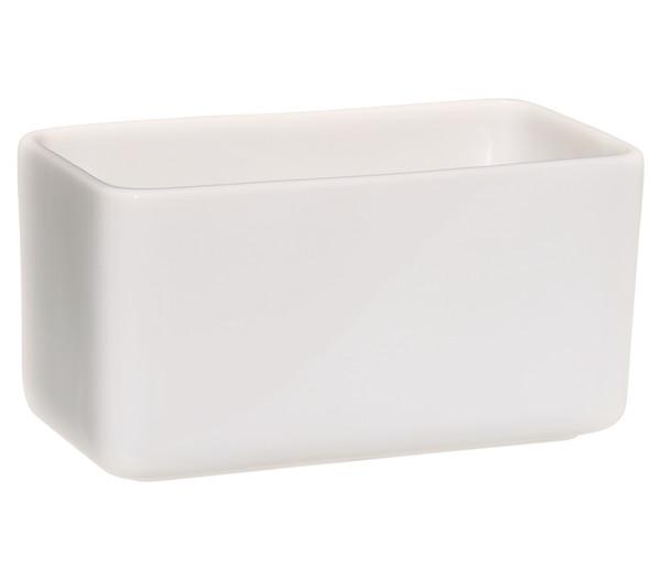 Keramik Übertopf, eckig, weiß