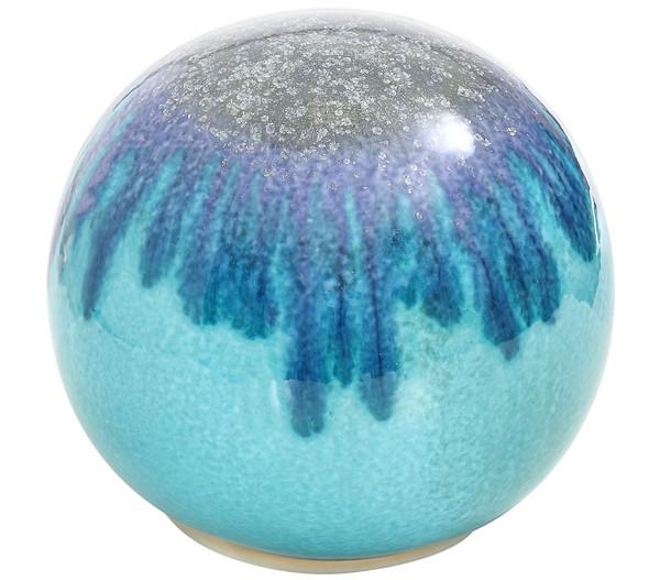 Keramik-Kugel, türkis-blau