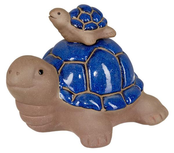 Keramik-Schildkröte mit Baby