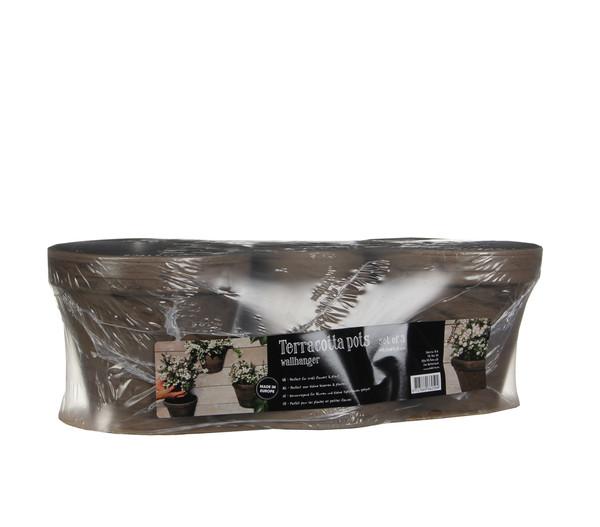 Keramik-Wandtopf 3er Set, rund, basalt | Dehner