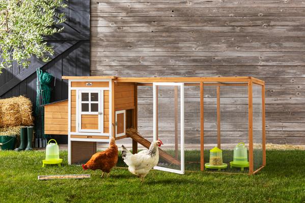 KERBL Hühnerzubehör Kunststofftränke mit Standfüßen