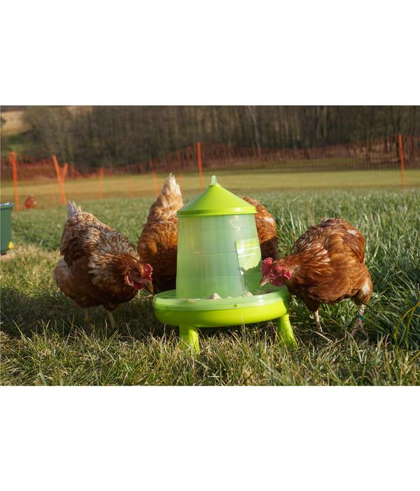 KERBL Hühnerzubehör Set Futterautomat & Tränke mit Standfüßen